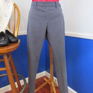H&M Slim Fit Navy Print Ankle Pants